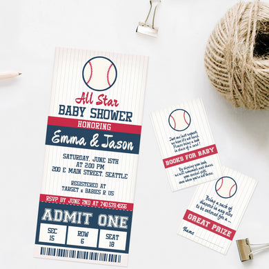 baseball baby shower invitation template editable instant download boy