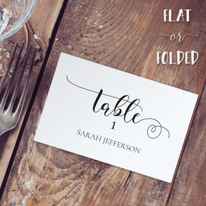rustic wedding table place cards template editable instant download