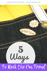 5 ways to rock the pin trend - Caren Kinne Artwork  - group portrait lapel pin