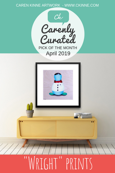 Carenly Curated Pick for April 2019 Wright character portrait prints
