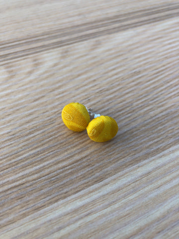 Cloth Button Stud Earrings
