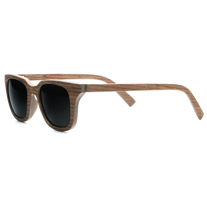 2cc350981f ... Polarized Vintage Handcrafted Square Walnut Wood Sunglasses For Men ...