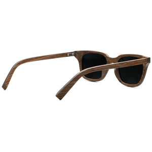 2ae1944921 Polarized Vintage Handcrafted Square Walnut Wood Sunglasses For Men ...