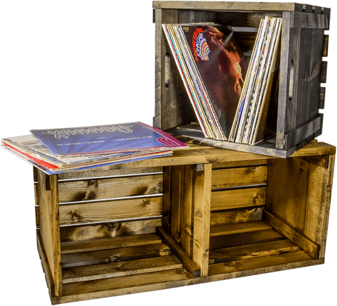 Retro Record Crate