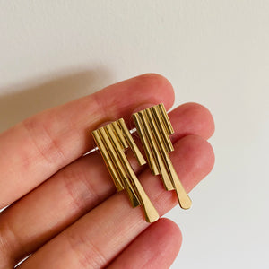 Remnants stud earrings