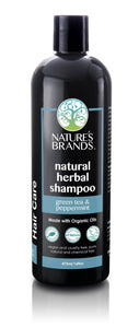 Natural Shampoo, Green Tea & Peppermint; Made with Organic