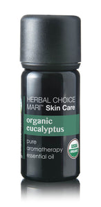 Organic Eucalyptus Essential Oil; 0.3floz Glass