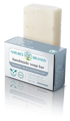 Natural Handmade Soap Bar, Unscented; 3.2oz