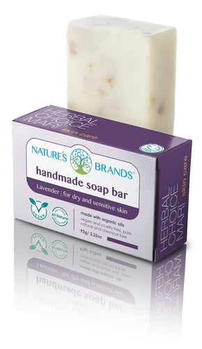 Natural Handmade Soap Bar, Lavender; 3.2oz