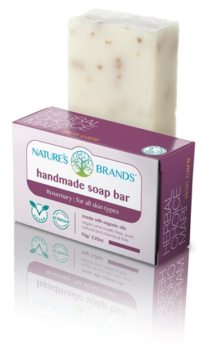 Natural Handmade Soap Bar, Rosemary; 3.2oz