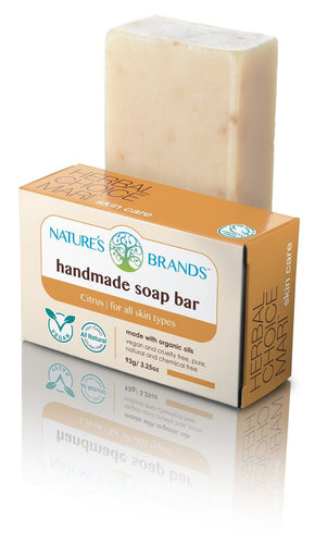 Natural Handmade Soap Bar, Citrus; 3.2oz