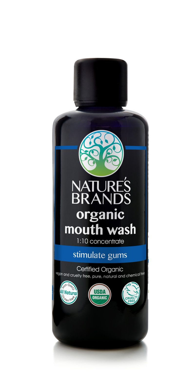 NATURAL MOUTHWASH WITH ORGANIC HERBS & ORGANIC ESSENTIAL OILS