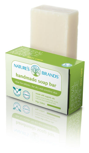 Natural Handmade Soap Bar, Aloe for Infants; 3.2oz