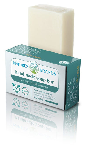Natural Handmade Soap Bar, Tea Tree; 3.2oz