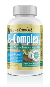 Whole Food B-Complex Vegetarian Capsules; 120-Count, Made with Organic