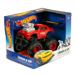 Hot Wheels Crash & Up Friction Car - 13cm