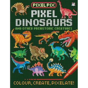 Pixel Pix Dinosaurs Colouring Book