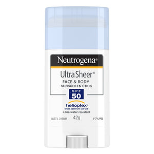 Neutrogena SPF50+ Ultra Sheer Face and Body Sunscreen Stick 42g