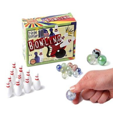 Miniature Bowling Pins & Marble Bundle