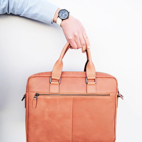 Jack Bee Flinders Leather Laptop Bag