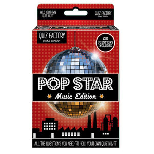 Quiz Factory Card Games - Pop Star Music Edition