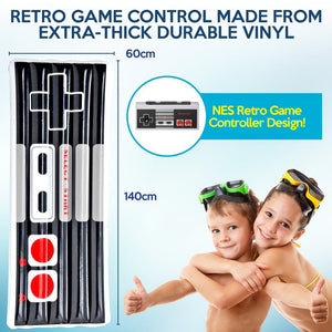 Inflatable Retro Game Control Air Bed - 140x60cm