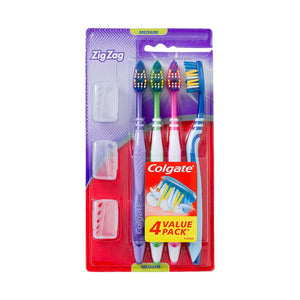 Colgate Zig Zag Value Pack Tooth Brush With Holder - Soft