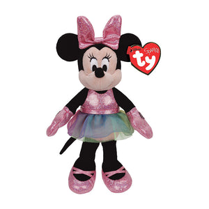 "Ty Beanie Babies Collection 8"" Disney Minnie Mouse Ballerina Sparkle Plush Toy"