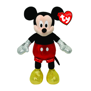 "Ty Beanie Babies Collection 8"" Disney Mickey Red Sparkle Plush Toy"