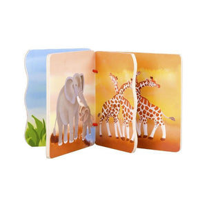 Classic World Animal Pictures Wooden Baby Book