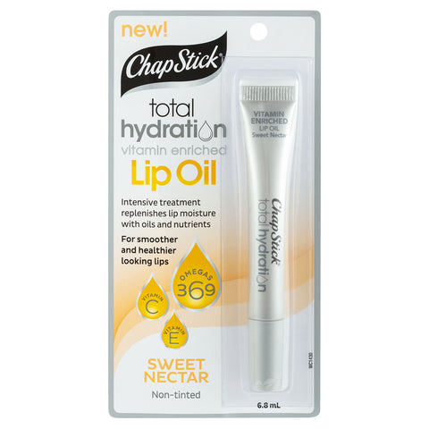 ChapStick Total Hydration Lip Oil - 6.8mL