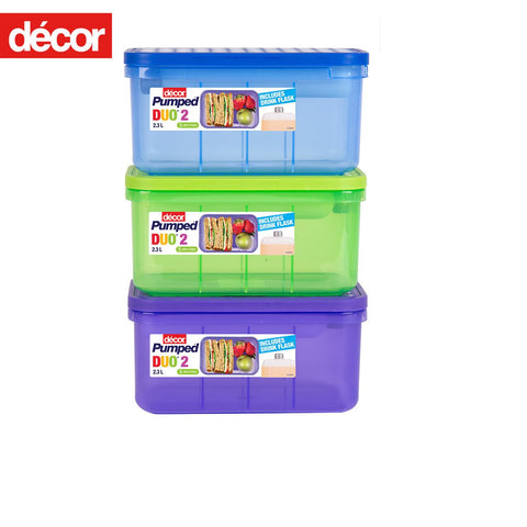 Decor Pumped Duo Lunch Box and Flask Set