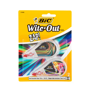 BiC Wite-Out Zap! Correction Tape 2-Pack