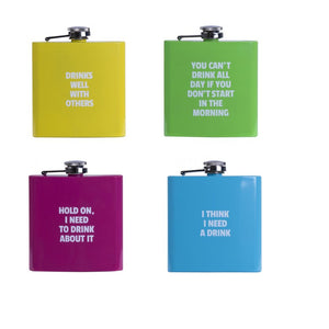 Novelty Coloured Hip Flask