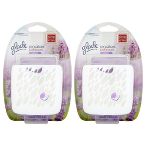 2 x Glade Sensations Bathroom Gel Lavender 8g