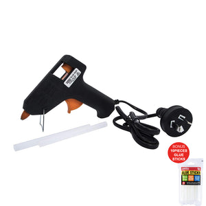 Handy Hardware Glue Gun 40w with 2 Glue Sticks + Bonus 10 Glue Sticks
