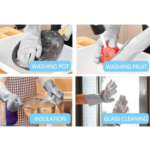 Spiffy Scrub Magic Silicone Scrubbing Gloves