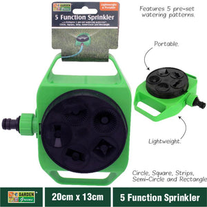 Garden Greens Water Sprinkler Connector 5 Pattern Spray