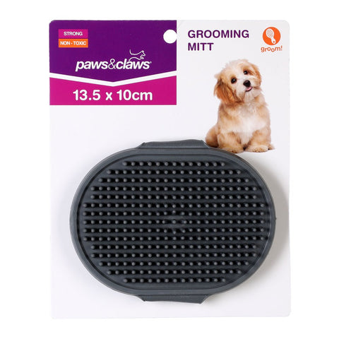 Paws & Claws Grooming Mitt Rubber