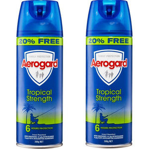 2 x Aerogard Insect Repellent Tropical Strength 300g Smooth Sales