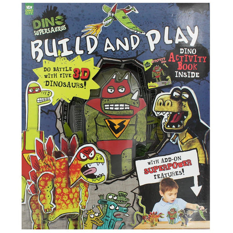 Dino Supersaurus: Build and Play - Activity Book and 3D Dinos