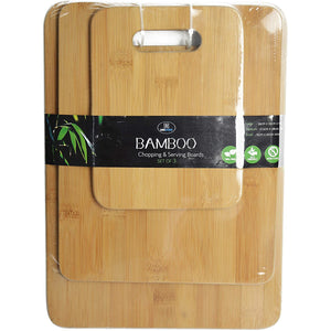 Bamboo Chopping & Serving Boards Set of 3