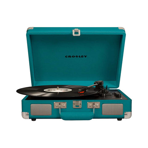 Crosley Cruiser Deluxe Vintage 3-Speed Portable Turntable + Free Record Storage Crate