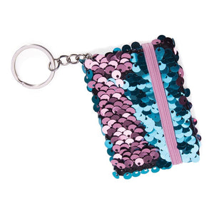 Reversible Sequin Notebook Keychains