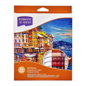 Derwent Academy Oil Paints 12ml - 24 Pack
