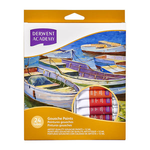 Derwent Academy Gouache Paints 12ml - 24 Pack