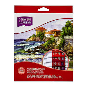 Derwent Academy Watercolour Paints 12ml - 24 Pack
