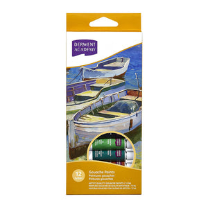 Derwent Academy Gouache Paints 12ml - 12 Pack