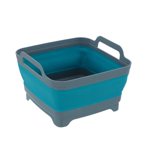 Boxsweden Foldaway Square Basin Storage Container With Handles - 10.5L