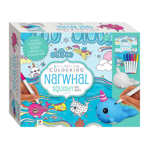 Kaleidoscope Colouring: Narwhal Squishy Kit